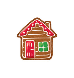 gingerbread icon vector image