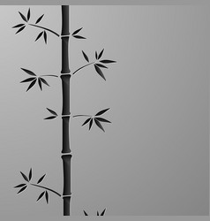 green bamboo symbol icons set vector image