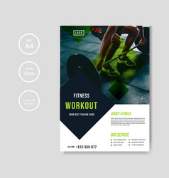 Gym and fitness flyer template vector