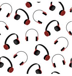 Headphones seamless pattern vector