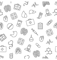 Hospital pattern black icons vector