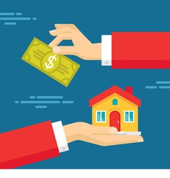 Human Hands - Real Estate Concept vector image vector image