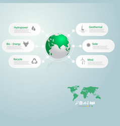 Infographics of green energy in the world vector