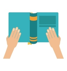 Isolated book and hands design vector