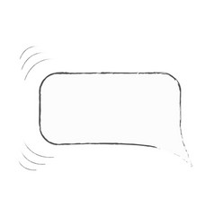 isolated hand drawn speech bubble as if moving vector image