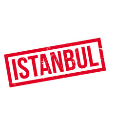 Istanbul rubber stamp vector