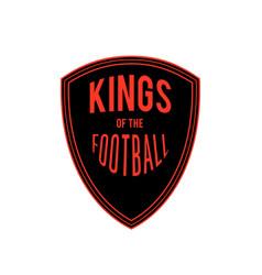 Kings football badge logo design ima vector