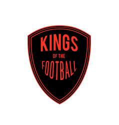 kings of the football badge logo design ima vector image