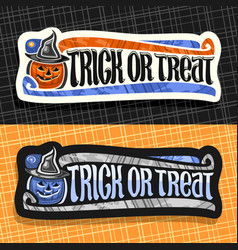 Labels for halloween vector