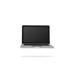 laptop flat design vector image