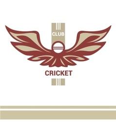 Logo template cricket club vector