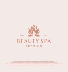 lotus flower logo abstract beauty spa salon vector image