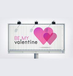Lovely greeting horizontal billboard template vector