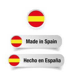 made in spain label set vector image