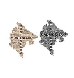 Map of montenegro vector