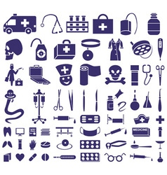 medicine icons on white vector image