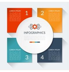 Modern business infographics circle vector image