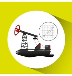 Oil well industry growth diagram background vector