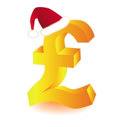 pound currency xmas vector image
