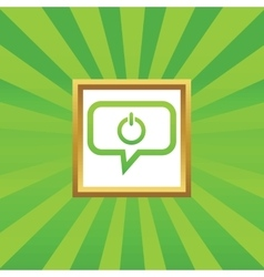 Power message picture icon vector