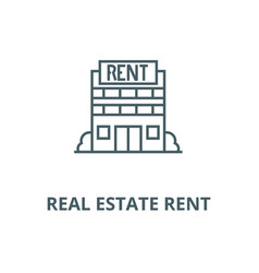 real estate rent line icon linear concept vector image