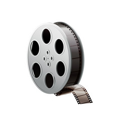 realistic film reel vector image