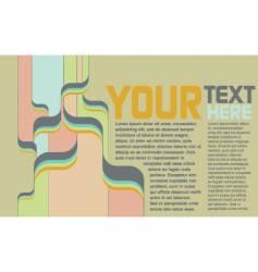 Retro psychedelic page vector