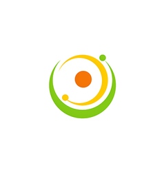 Round circle orbit abstract logo vector