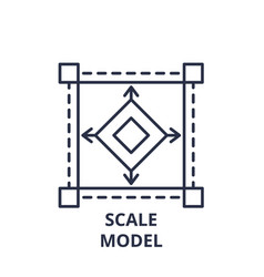 scale model line icon concept scale model vector image