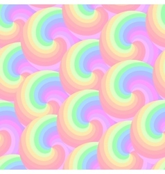 Seamless pattern with colorful spirals vector image