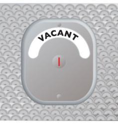 Secure door vacant vector