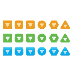 Set of down arrow icons vector