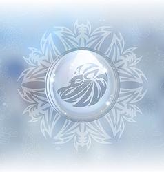 Snow globe with zodiac sign Leo vector