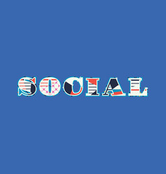 Social concept word art vector