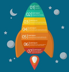 Spaceship infographic vector image vector image