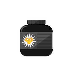sport nutrition container isolated icon vector image
