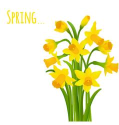 spring postcard vector image