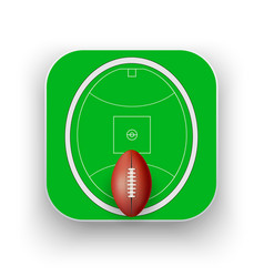 Square icon of australian rules football sport vector