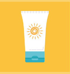 Sunscreen icon vector