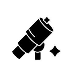 Telescope black glyph icon vector