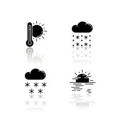 temperature and precipitation forecast drop vector image