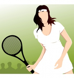 tennis playing vector image