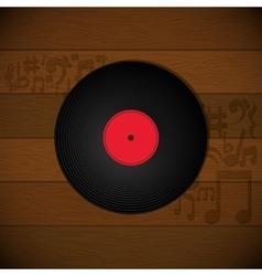 vinyl music vintage vector image
