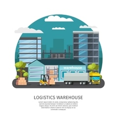 Warehouse Logistics Design vector