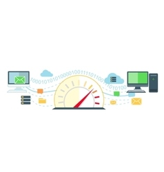 Web Traffic Internet Icon Flat Isolated vector
