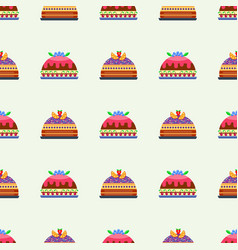 Wedding cake pie sweets dessert bakery flat vector
