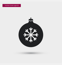 xmas tree toy icon simple winter sign vector image