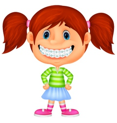 Young children cartoon smiling vector