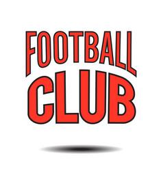 football club text logo image vector image
