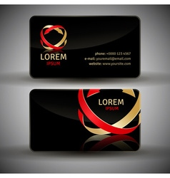 Icon design element with business card vector image vector image